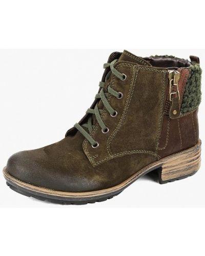 Велюровые ботинки - коричневые Josef Seibel