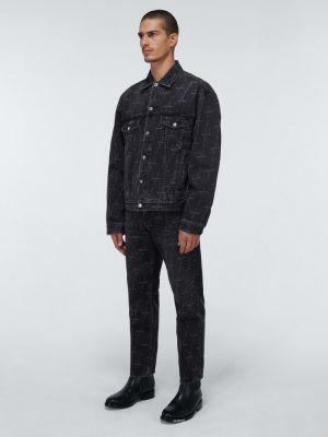 Джинсовые прямые джинсы - черные Balenciaga