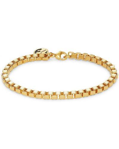 Żółta bransoletka łańcuch srebrna pozłacana Effy