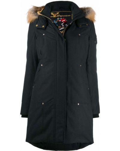 Синее пальто с опушкой Moose Knuckles