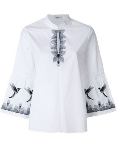 Белая блузка хлопковая Vilshenko