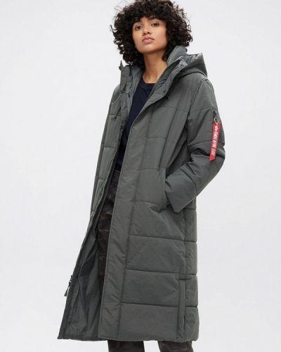 Утепленная куртка - серая Alpha Industries