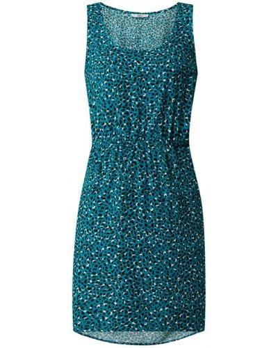 Fioletowa sukienka rozkloszowana z wiskozy Only