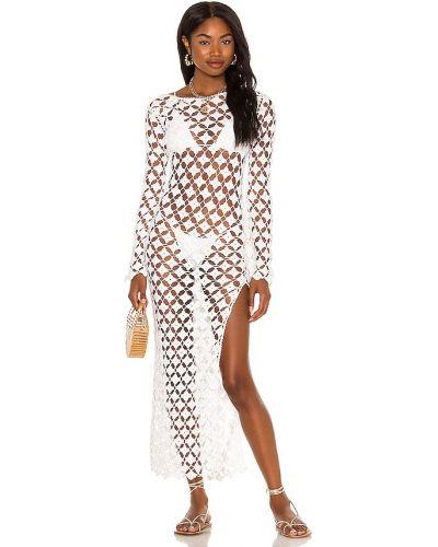 Biała sukienka midi bawełniana Tularosa