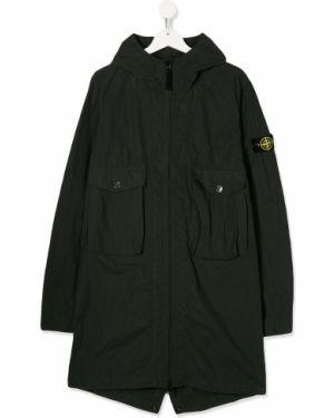 Płaszcz przeciwdeszczowy - zielony Stone Island Junior