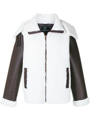 Biała kurtka skórzana Unreal Fur