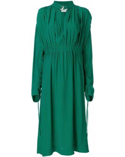 Платье с длинными рукавами со складками Cédric Charlier