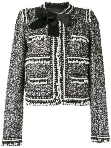 Черный приталенный удлиненный пиджак с подкладкой Giambattista Valli