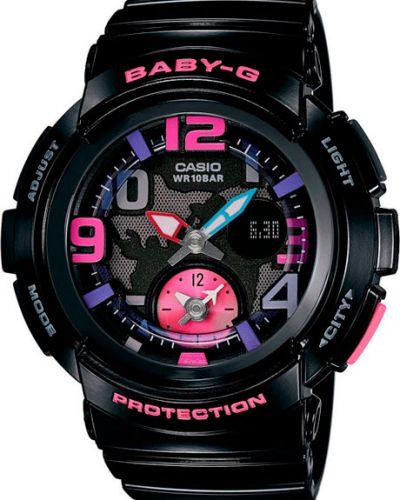 Водонепроницаемые часы черные с подсветкой Casio