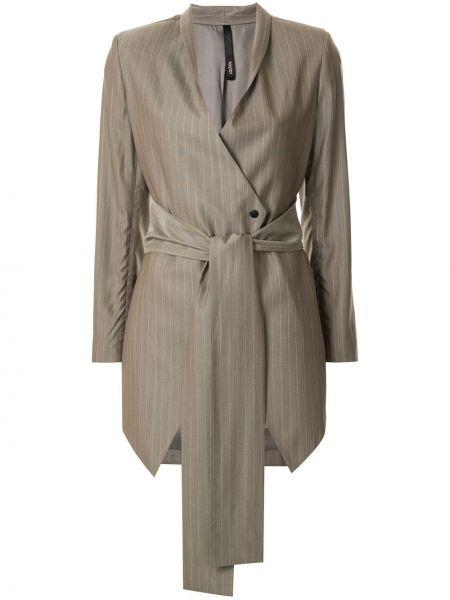 Шерстяная коричневая куртка с поясом на пуговицах Taylor