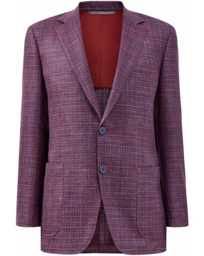 Шерстяной мягкий фиолетовый пиджак на пуговицах Canali
