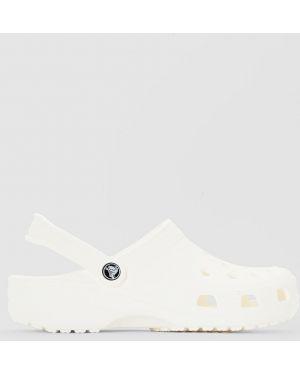 Белые сабо на каблуке Crocs