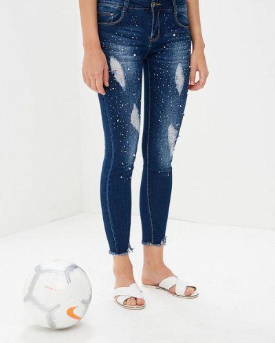 Синие джинсы-скинни By Swan