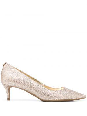 Брендовые розовые туфли-лодочки на каблуке Michael Michael Kors
