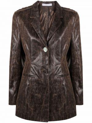 Коричневый пиджак длинный Rejina Pyo