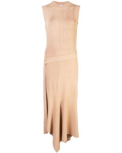 Трикотажное платье миди - бежевое Yigal AzrouËl