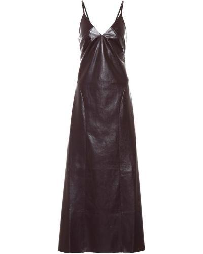 Платье миди модерн кожаное Nanushka