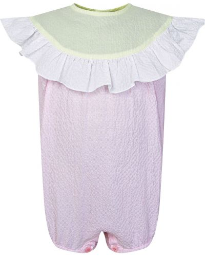 Хлопковый розовый комбинезон Il Gufo