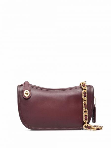 Кожаная сумка - красная Coach