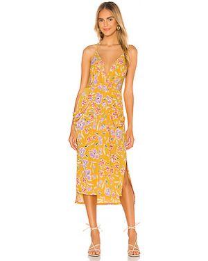 Приталенное платье миди с запахом на кнопках с драпировкой Bcbgeneration