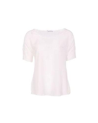 Белая блузка из полиэстера Flavio Castellani