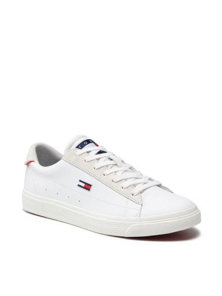 Białe półbuty zamszowe Tommy Jeans