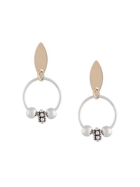 Серебряные серьги круглые Petite Grand