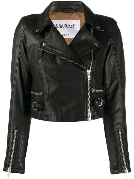 Кожаная куртка черная длинная S.w.o.r.d 6.6.44
