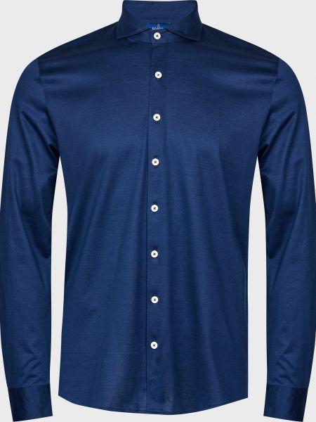 Хлопковая рубашка - синяя Barba Napoli