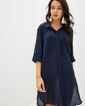 Пляжное платье осеннее синее Seafolly Australia