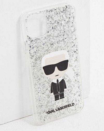 Серебряный футляр для очков Karl Lagerfeld