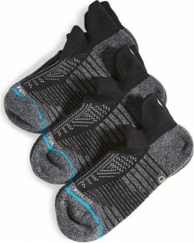 Prążkowane czarne skarpety bawełniane Stance