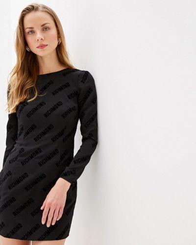 Повседневное платье осеннее черное John Richmond