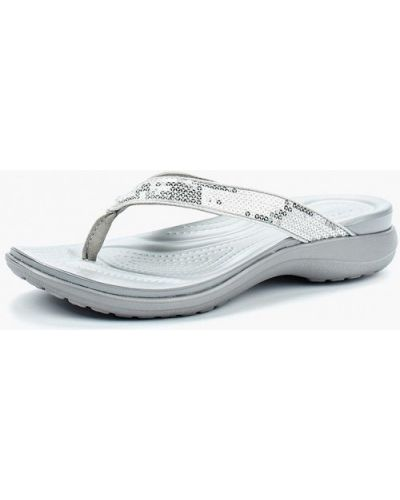 Сабо серебряного цвета Crocs