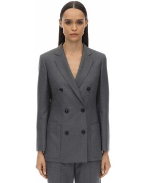 Шерстяной пиджак - серый Agnona