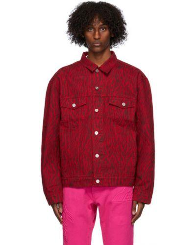 Черная джинсовая куртка на пуговицах с манжетами стрейч We11done
