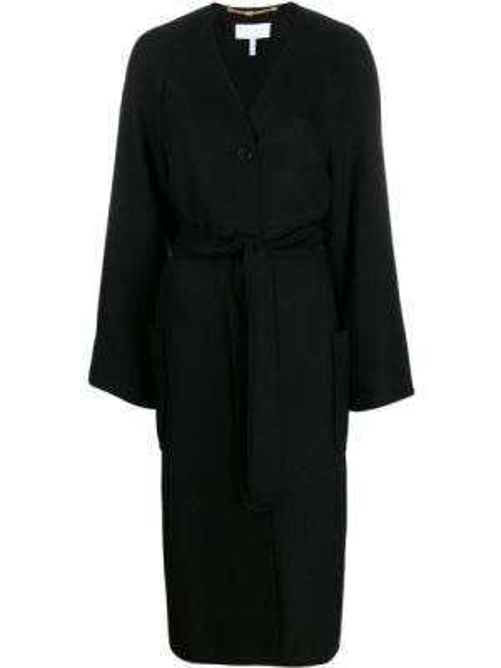 Шерстяное пальто - черное Escada Sport