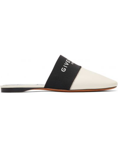 Тапочки белые из серебра Givenchy