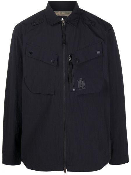 С рукавами черная классическая рубашка с воротником Maharishi