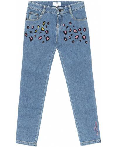Bawełna bawełna różowy jeansy z haftem The Marc Jacobs