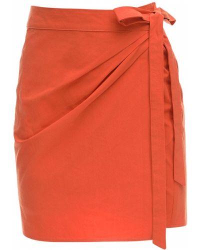 Czerwona spódnica mini z wysokim stanem kopertowa Ciao Lucia