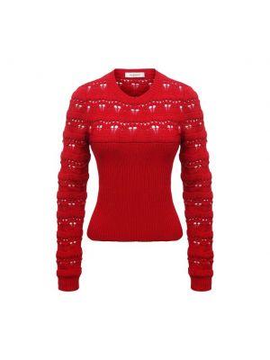 Хлопковый свитер - красный Valentino