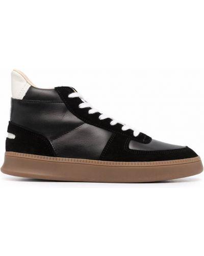 Czarne sneakersy skorzane Spalwart