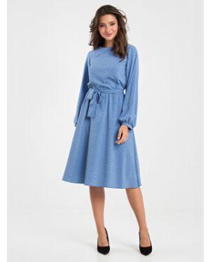 Платье миди в горошек на пуговицах Mariko