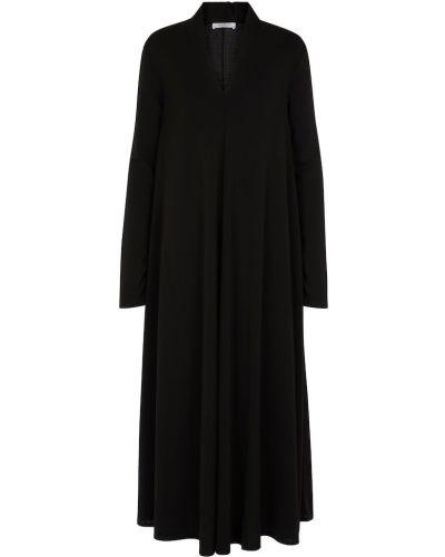 Черное платье из вискозы Max Mara