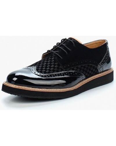 Туфли замшевый черные Mili