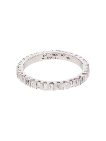 Biały złoty pierścionek z diamentem Le Gramme