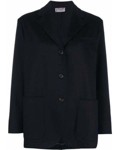 Однобортный синий классический пиджак с карманами Alberto Biani