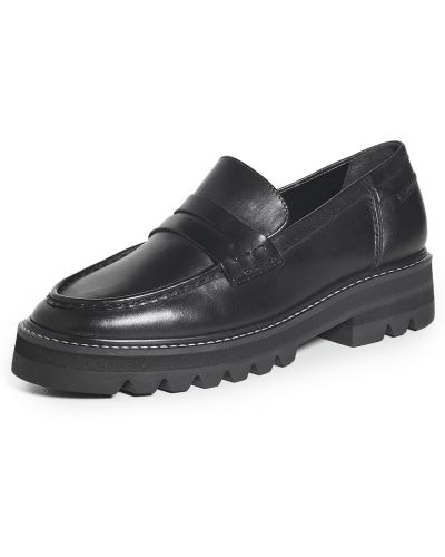 Loafers na obcasie - czarne Aster