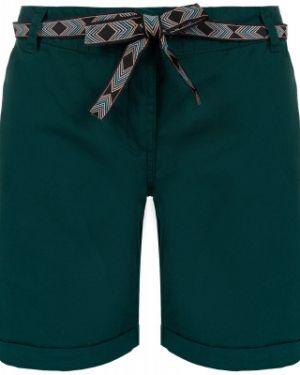 Прямые хлопковые зеленые спортивные шорты с поясом Termit